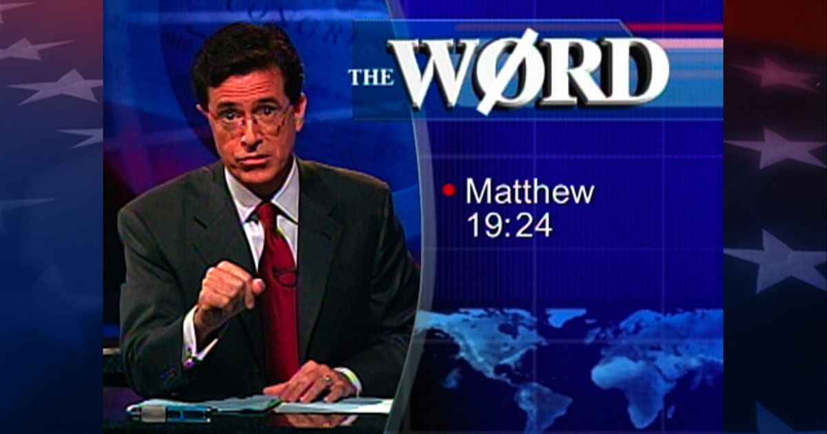 The Word Bacchanalia The Colbert Report Video Clip