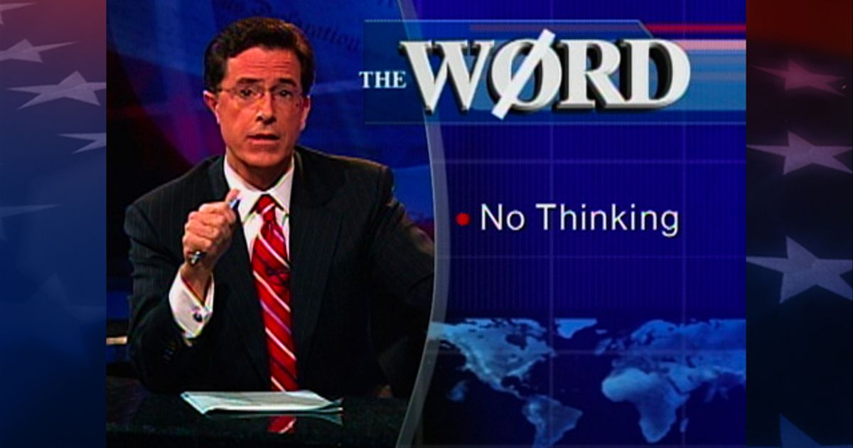 The Word Truthiness The Colbert Report Video Clip