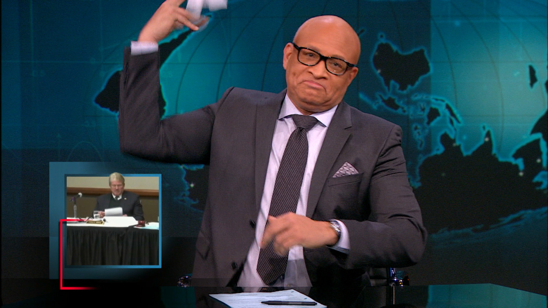 THE NIGHTLY SHOW - THE LARRY PEOPLE VS FLINT - RICK SNYDER'S IMAGE PROBLEM