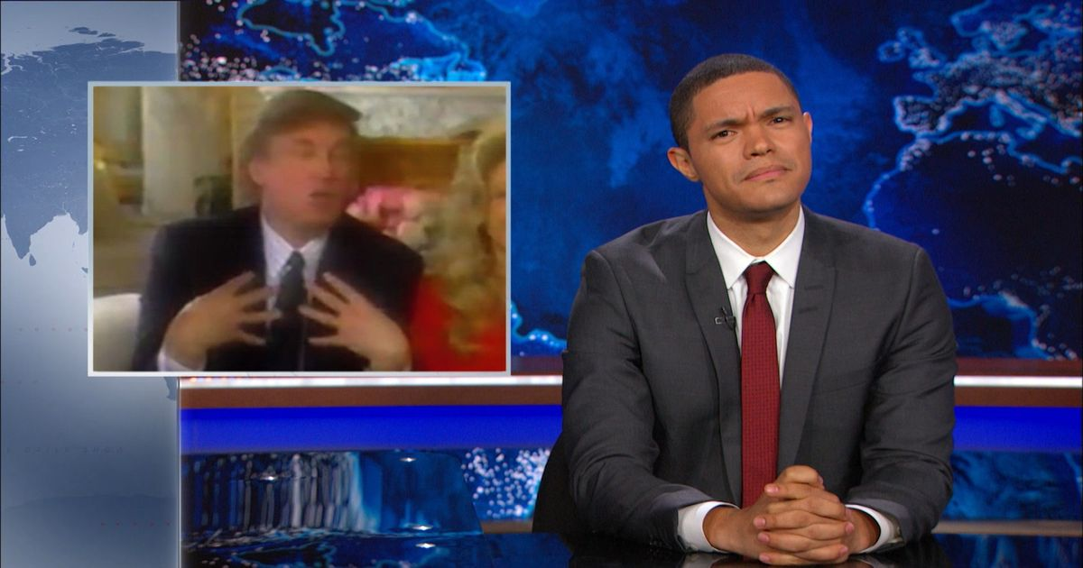 video clips wmfl daily show with trevor noah tales from trump archive donald history misogyny