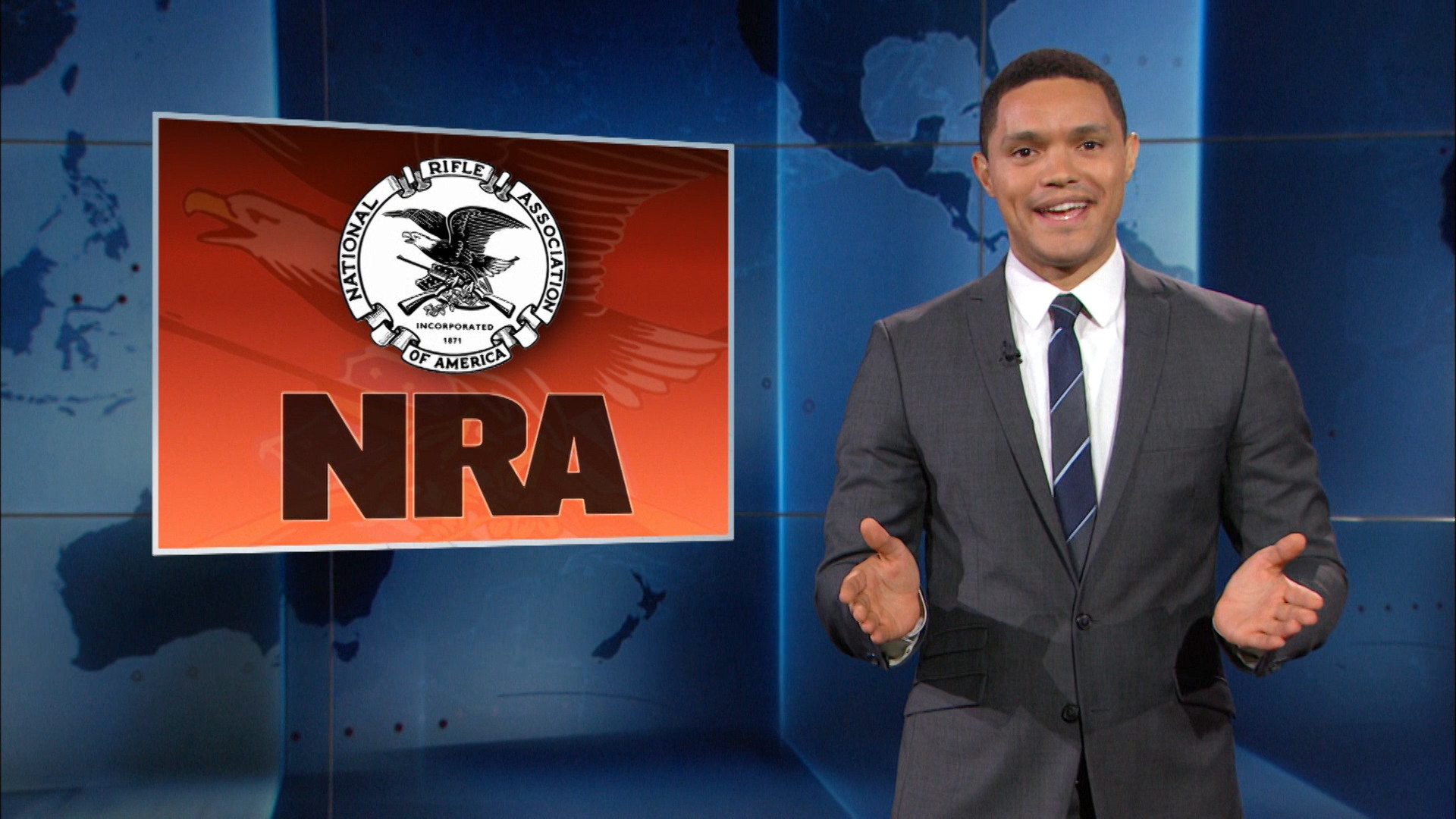 THE DAILY SHOW - PROTECTING THE NRA FROM OPEN-CARRY CAMERAS
