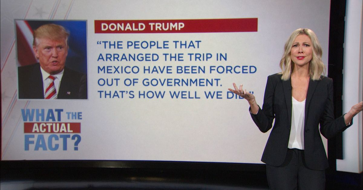 What the Actual Fact? - Donald Trump at the Commander-In ...